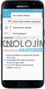 Galaxy s internet paylaşımı 7