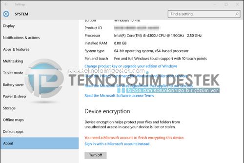 disk şifreleme