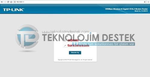 Türk Telekom, Tplink TD W9970 kablosuz ayarları