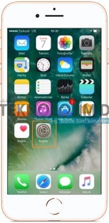 iPhone 8 bağlantı ayarları
