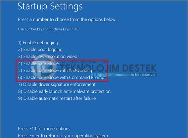 Windows 10 güvenli moda nasıl giriş yapılır? Windows 10 güvenli mod seçenekleri nelerdir? Windows 10 güvenli mod, Windows 10 güvenli mod nasıl açılır?