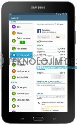 Galaxy Tab 3 Lite 3G uygulama kaldır, nasıl yapılır