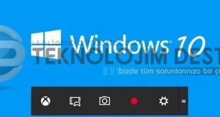 windows 10 ekran kaydetme programı