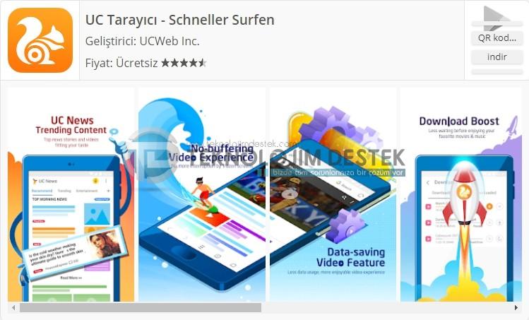 Uc browser mobil android tarayıcı