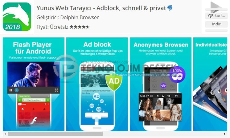 Yunus web browser mobil, mobil tarayıcılar