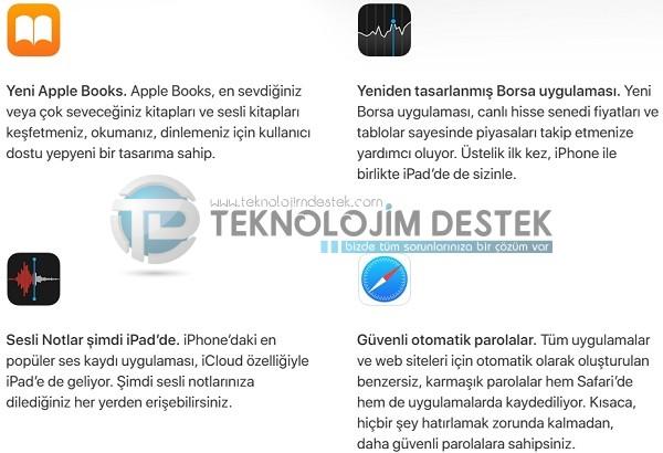 iOS 12 tüm özellikler
