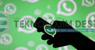 Whatsapp hesap bilgileri talep et nedir