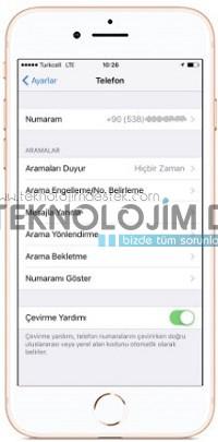 arama engelleme iphone 8
