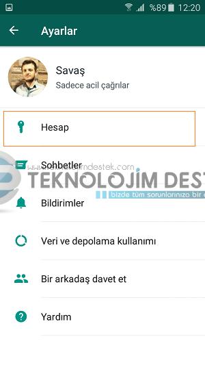 whatsapp hesap bilgileri talep et, whatsapp hesap bilglieri nasıl talep edilir