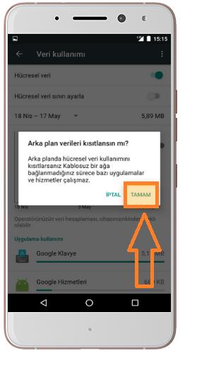 General mobile Veri kullanımı