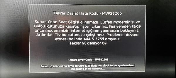 Tivibu MVP21205 hatası ve çözümü