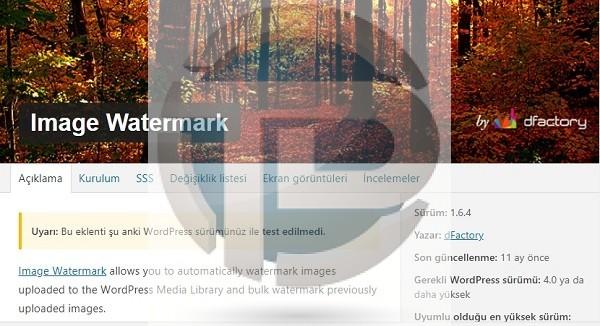 Wordpress resimlere otomatik logo yükleme eklentisi