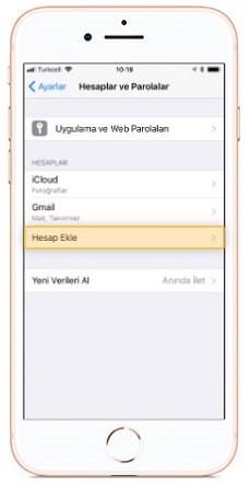 iphone 8 mail kurulumu
