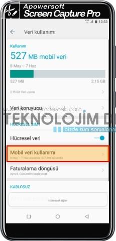 Casper VİA M4 akıllı telefonlarınız üzerinden veri kısıtlaması yapmak mümkün, veri kısıtlaması kullanıcının ayarlayacağı sınıra göre otomatik olarak mobil veriyi devre dışı bırakması anlamına gelmektedir.