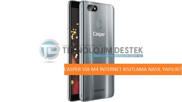 casper via m4 arka planda kullanılan interneti kısıtlama