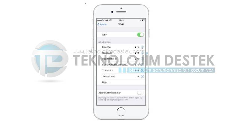 iPhone 7 wifi ayarları