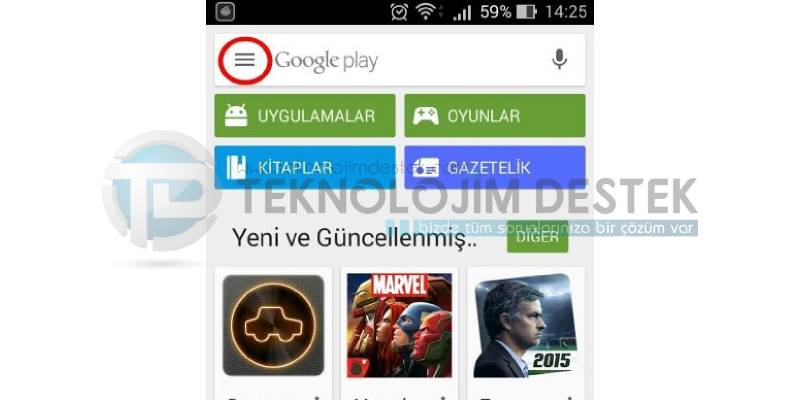 Google Play arama geçmişi temizleme