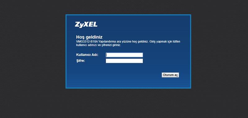 Zyxel vmg3312-b10a port açma