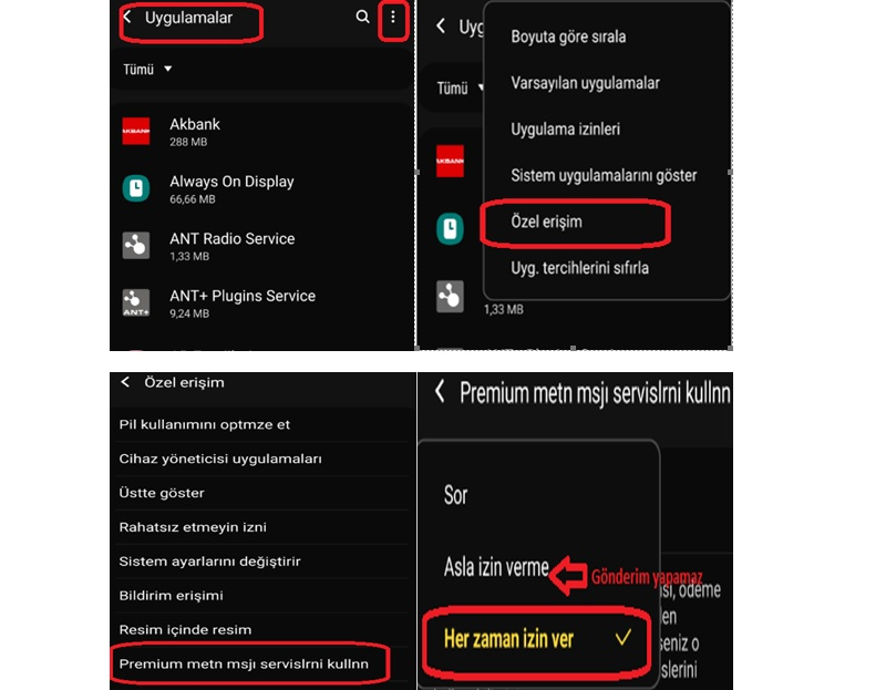 Vodafone 7000'e mesaj gönderemiyorum